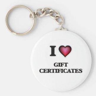 I love Gift Certificates Key Ring