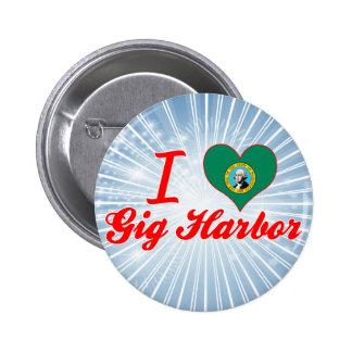 I Love Gig Harbor Washington Pins