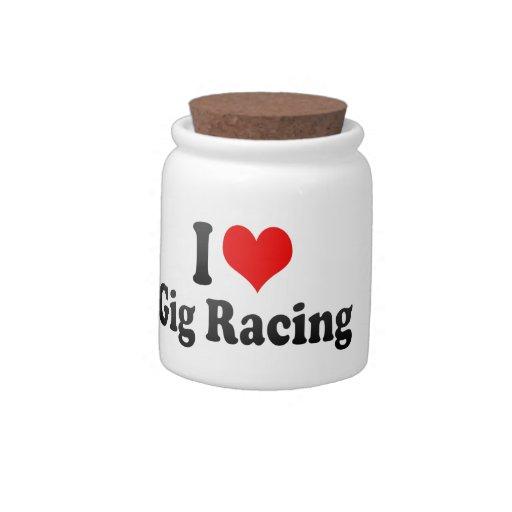 I love Gig Racing Candy Jars