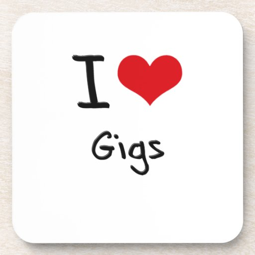 I Love Gigs Coaster