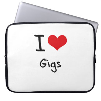 I Love Gigs Laptop Sleeves