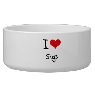 I Love Gigs Pet Water Bowls
