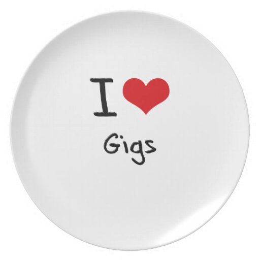 I Love Gigs Plate
