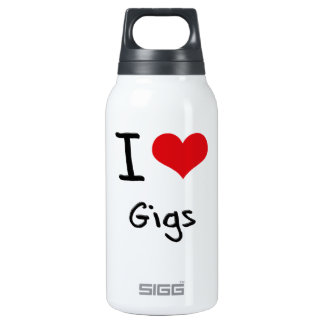 I Love Gigs 10 Oz Insulated SIGG Thermos Water Bottle