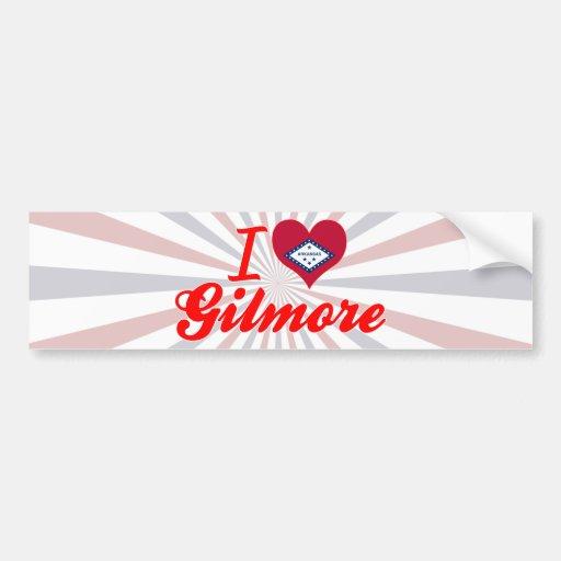 I Love Gilmore, Arkansas Bumper Sticker