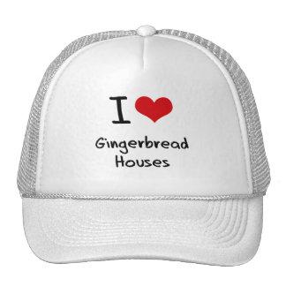 I Love Gingerbread Houses Mesh Hat