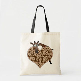 I Love Giraffes Budget Tote Bag