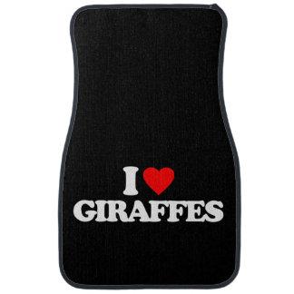 I LOVE GIRAFFES CAR MAT