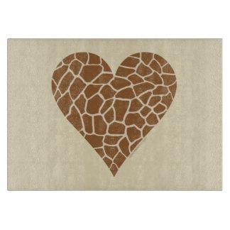 I Love Giraffes Cutting Board