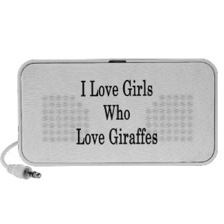 I Love Girls Who Love Giraffes Mini Speakers