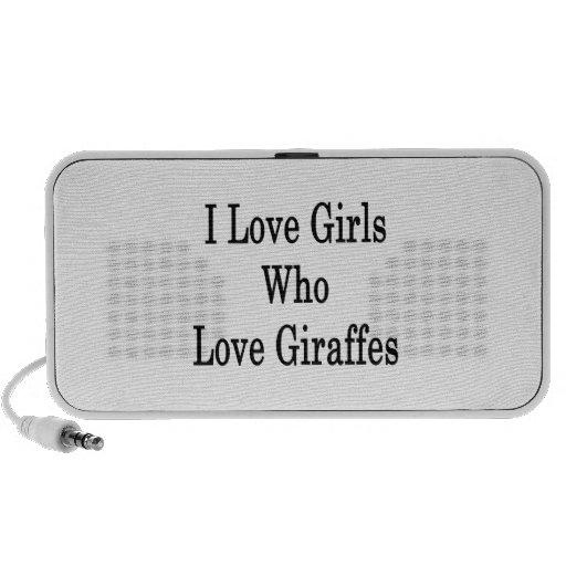 I Love Girls Who Love Giraffes Mini Speakers
