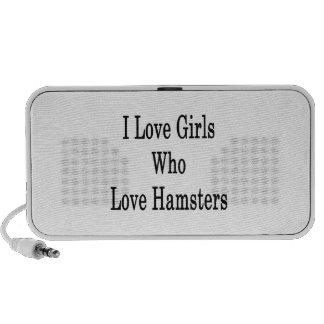 I Love Girls Who Love Hamsters iPod Speaker