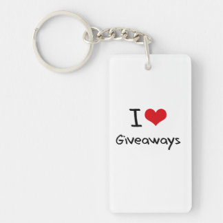I Love Giveaways Rectangle Acrylic Key Chain