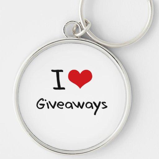 I Love Giveaways Key Chains