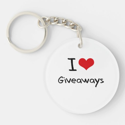I Love Giveaways Acrylic Keychain