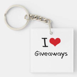 I Love Giveaways Acrylic Keychains