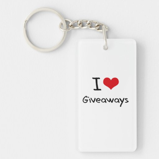 I Love Giveaways Acrylic Key Chains