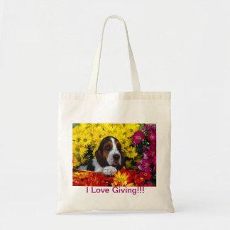 i love giving budget tote bag