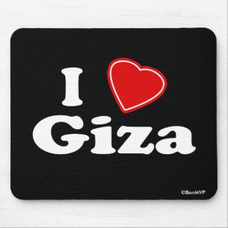 I Love Giza Mousepads