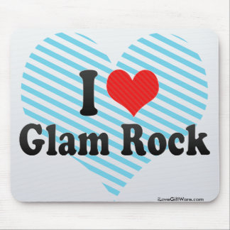 I Love Glam Rock Mouse Pads