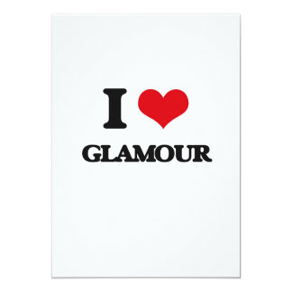 "I love Glamour 5"" X 7"" Invitation Card"