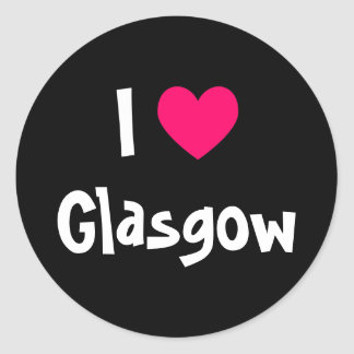 I Love Glasgow Classic Round Sticker