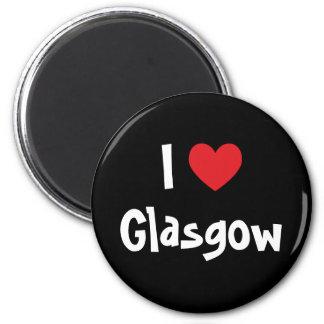 I Love Glasgow 6 Cm Round Magnet