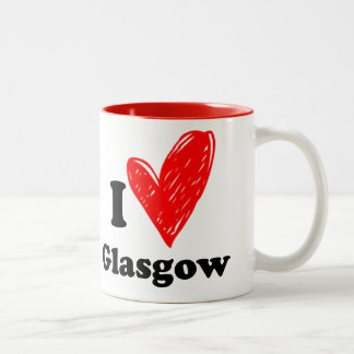 I love Glasgow Two-Tone Coffee Mug