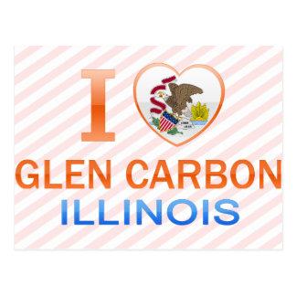 I Love Glen Carbon, IL Postcard