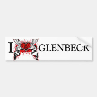 I LOVE GLENBECK BUMPER STICKER