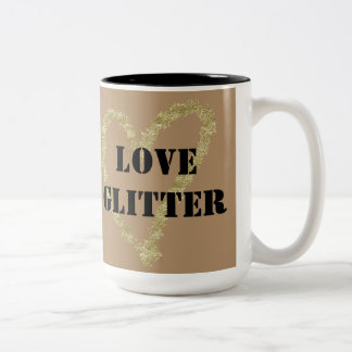 I Love Glitter Coffee Cup Two-Tone Mug