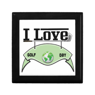 I Love Glof Day Small Square Gift Box