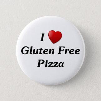 I Love Gluten Free Pizza 6 Cm Round Badge