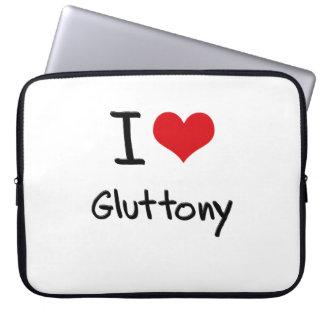 I Love Gluttony Computer Sleeves