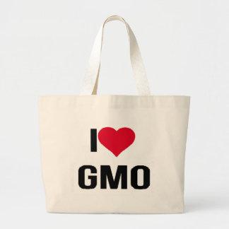I Love GMO Large Tote Bag