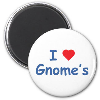 I Love Gnome's Magnet