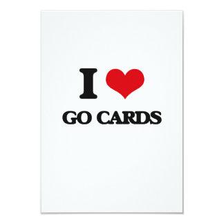 I love Go Cards 9 Cm X 13 Cm Invitation Card