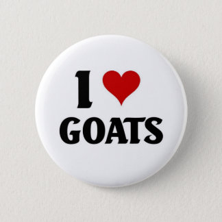 I love goats 6 cm round badge