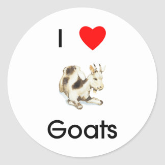 I love goats Sticker