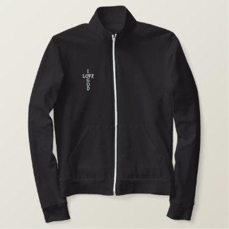 I LOVE GOD Embroidered jacket