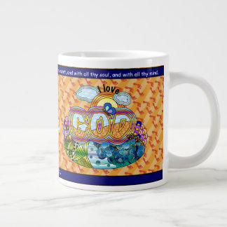I Love God Large Coffee Mug