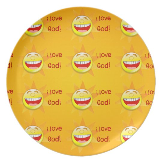 I Love God Plate