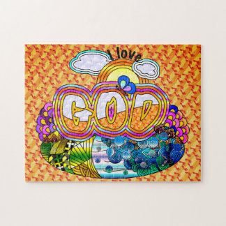 I Love God Puzzle