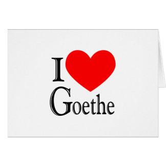 I Love Goethe Card