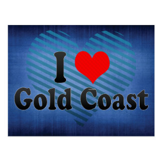 I Love Gold Coast Australia Postcards