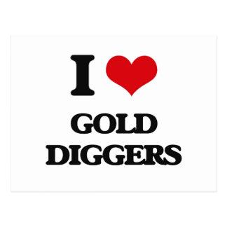 I love Gold Diggers Postcard