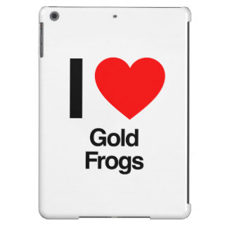 i love gold frogs cover for iPad air