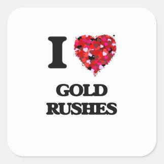 I Love Gold Rushes Square Sticker