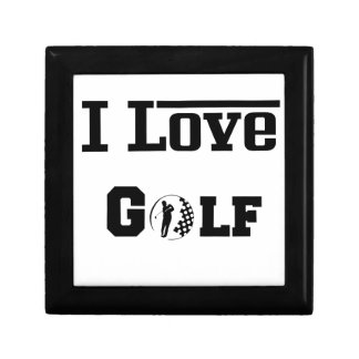I Love Golf 2 Small Square Gift Box