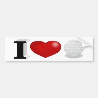 I Love Golf 3D Bumper Sticker